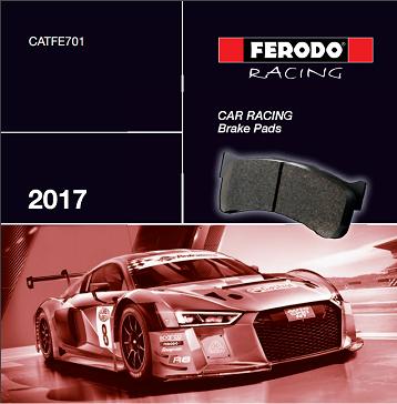 katalog brzdové destičky Ferodo Racing Cars 2017